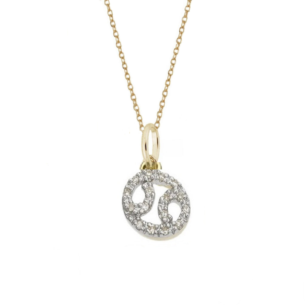 Rachael Ryen Cancer Diamond Zodiac Charm Necklace