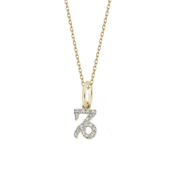 Rachael Ryen Capricorn Diamond Zodiac Charm Necklace