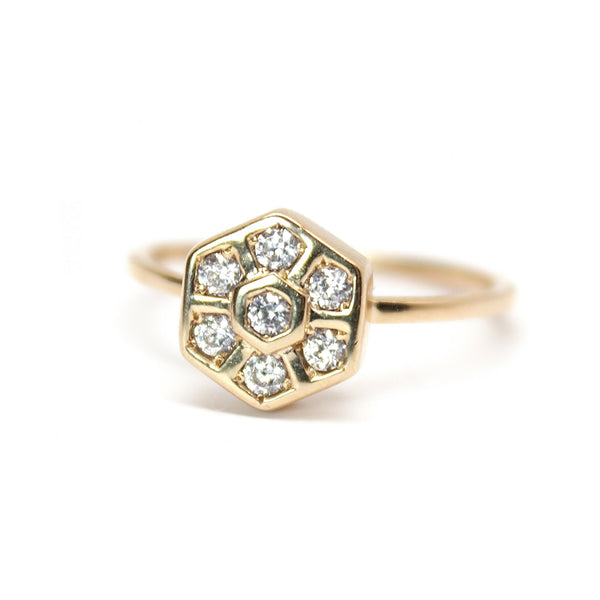 Hexagon Honeycomb Ring