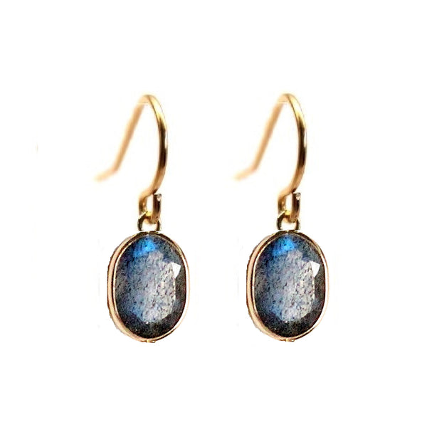 Rachael Ryen Solid Gold Labradorite Drop Earrings