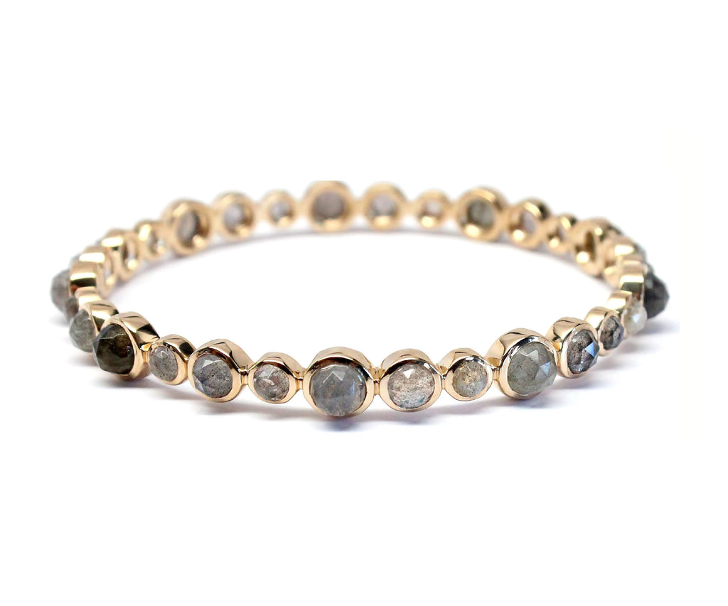 Labradorite Multi-stone Bangle