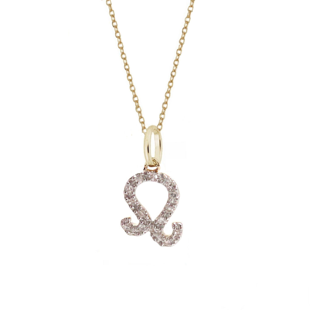 Rachael Ryen Leo Diamond Zodiac Charm Necklace