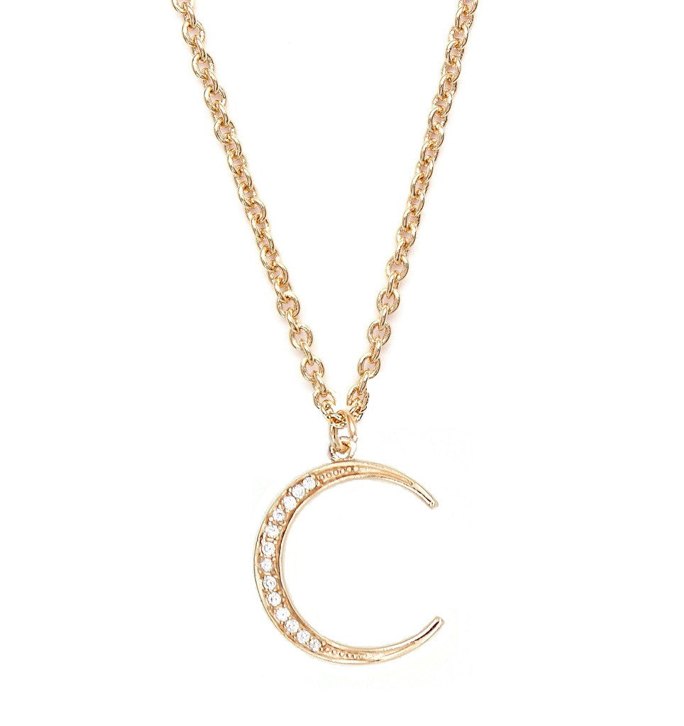Gold Moon Necklace - Moon Necklace - Sophia Bush Necklace