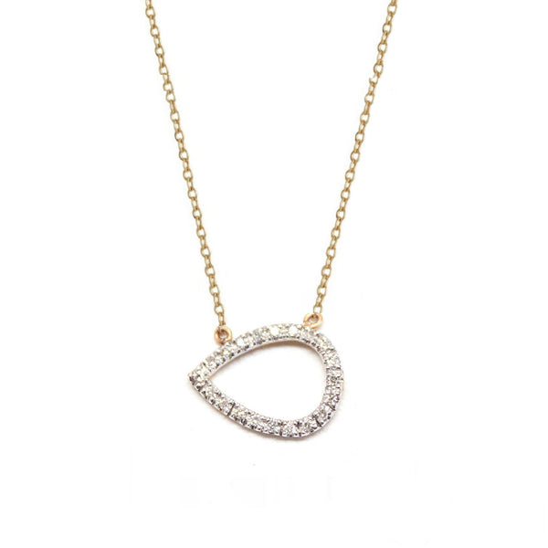Rachael Ryen Lauren Pear Diamond Necklace