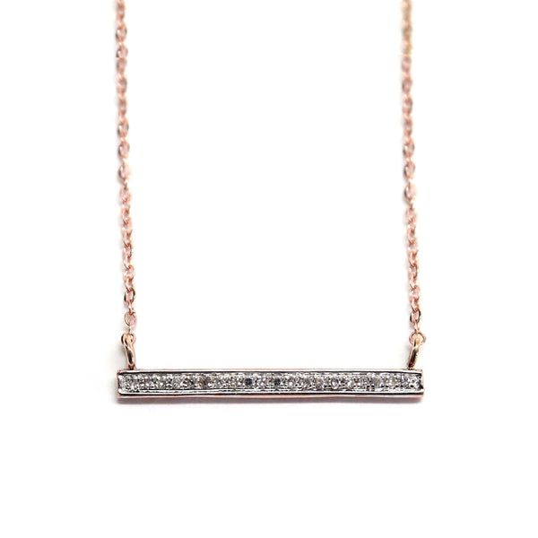 Lauren diamond bar necklace