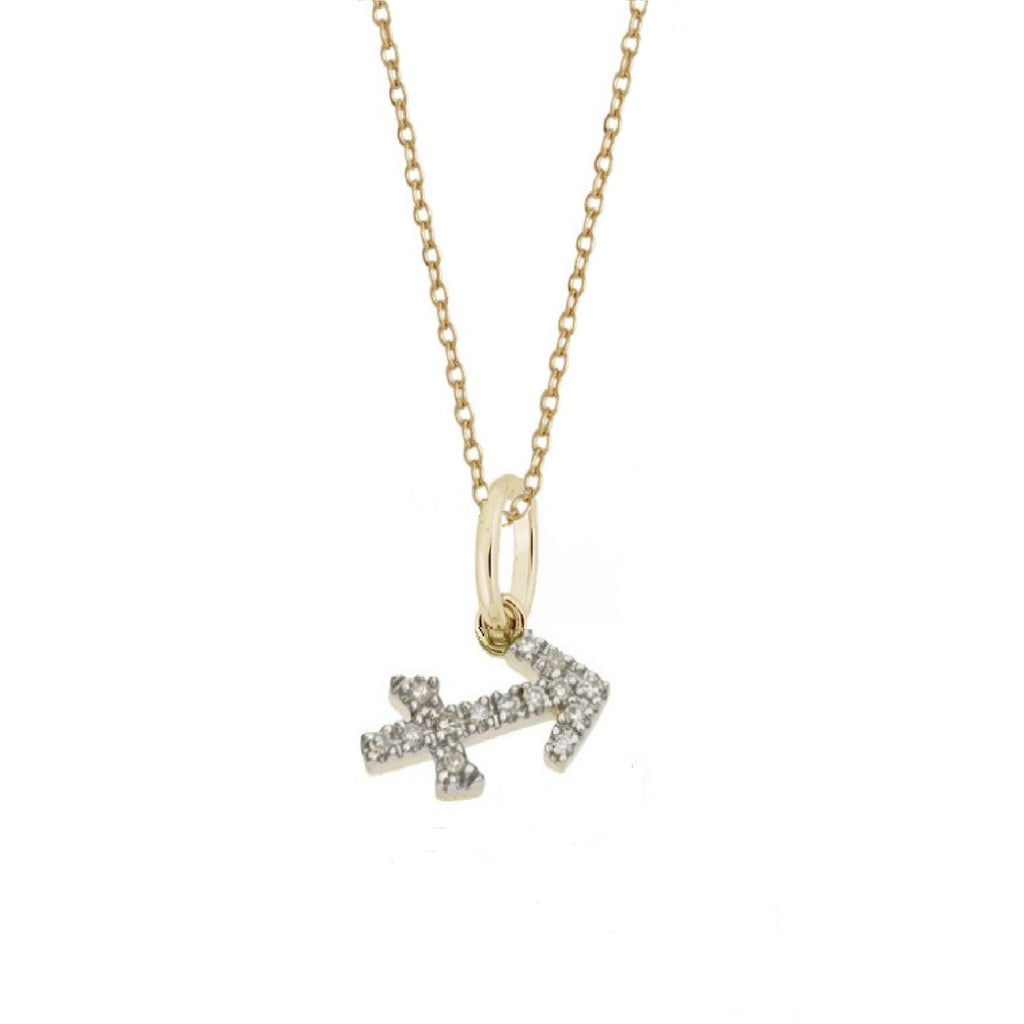 Sagittarius Diamond Zodiac Charm Necklace