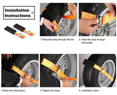 Tire Chain Straps Traction Device