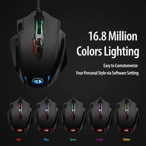 High Precision MMO Impact Gaming Mouse LED Laser Wired - Digital Market Today-Quality-Innovation-Technology Excellence