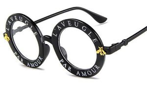 Luxury Fashion Bee Metal Frame Circle Glasses - Digital Market Today-Quality-Innovation-Technology Excellence