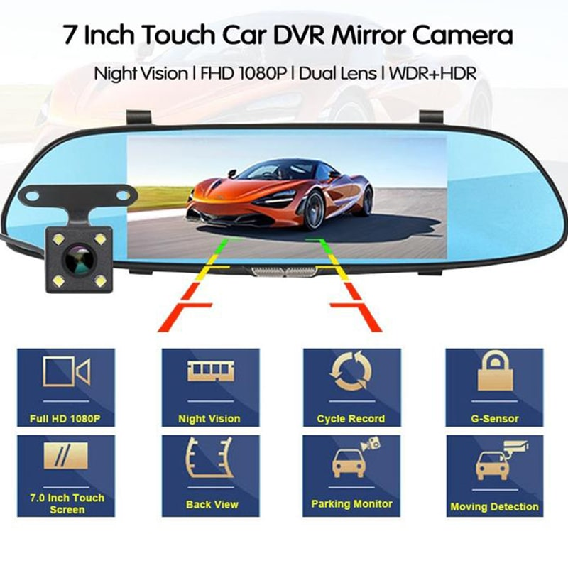 DVR Touch Video Recorder Dash Cam with Rear View Camera - Digital Market Today-Quality-Innovation-Technology Excellence