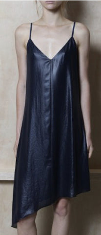 ATM Lacquered Asymmetrical Dress