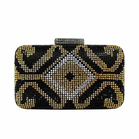 Cakewalk Signature Art Deco Minaudiere in Black/Gold