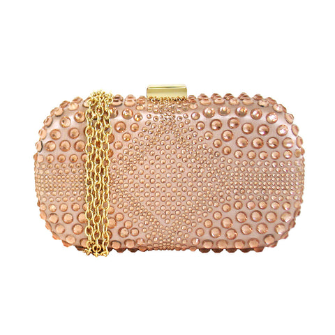 Cakewalk Signature Rounded Minaudiere in Champagne