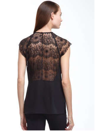 Cooper & Ella Sonia Lace Sleeve Top
