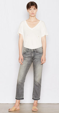 Current/Elliott The Cropped Straight Denim