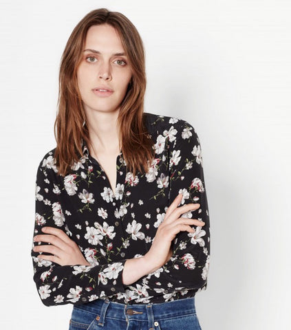 Equipment Leema Silk Shirt In Magnolia Floral Print