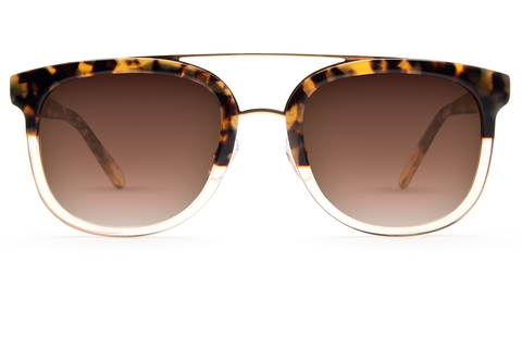 Krewe Sunglasses Aviator CL-10 Blonde Tortoise