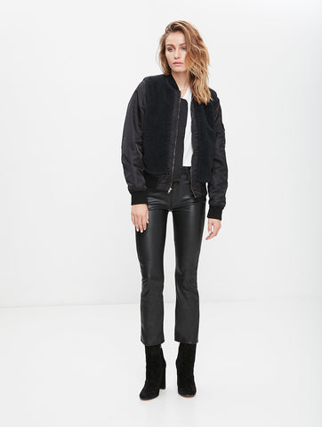 Mother Denim Insider Crop Leather