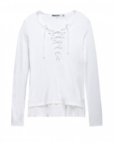 Pam & Gela L/S Lace Up Tee