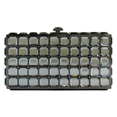 Rectangular Hardcase w/ Stones in Pewter