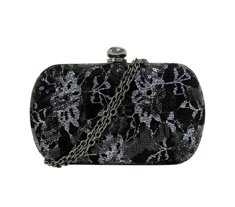 Cakewalk Signature Rounded  Minaudiere in Black/Silver