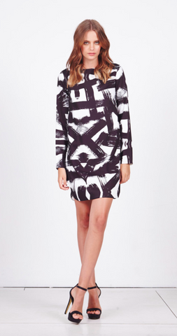 Shilla Paramount Print L/S Dress