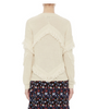 Tanya Taylor Inlay Fringe Cha Cha Sweater