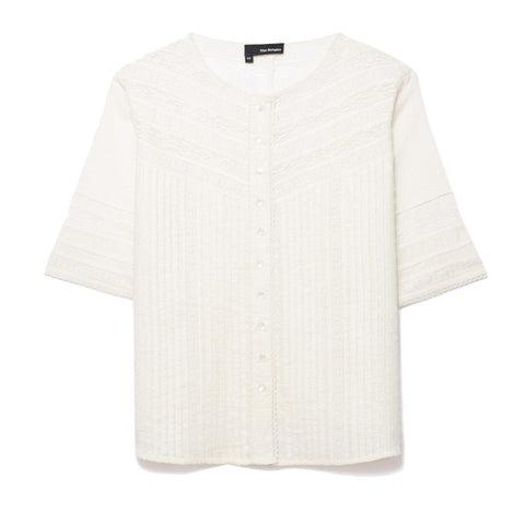 The Kooples Embroidered Cotton Blouse