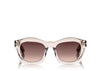 Tom Ford Greta Geometric Sunglasses in Transparent Pink