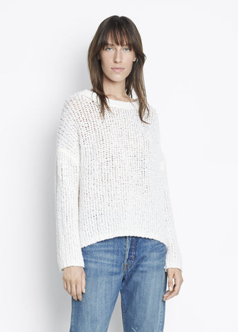 Vince Textured Boxy Pullover