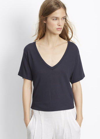 Vince Relaxed V-Neck Top