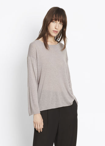 Vince Three-Quarter Sleeve Knit in Latte