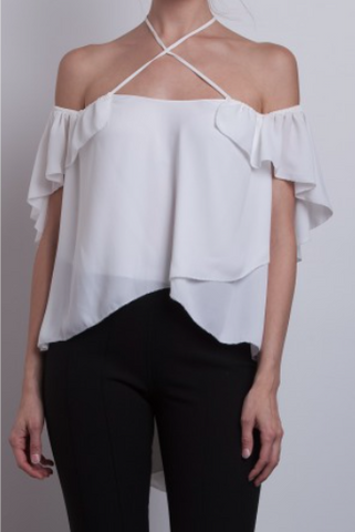 Cinq a Sept Carla Top in Ivory