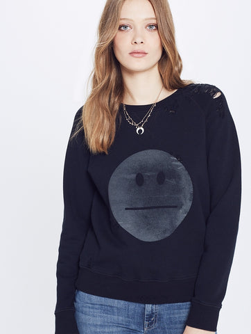 Mother Denim The Square Sweatshirt in Poker Face