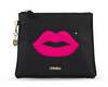 IPhoria Black Cosmetic Bag Pink Lips