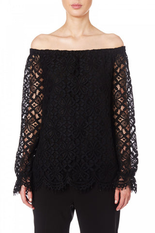 Grace Willow Penny Cold Shoulder Lace Top