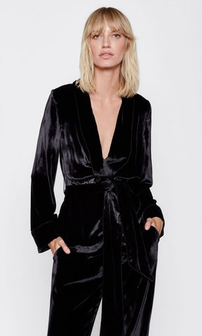 Equipment Odette Robe Top in True Black