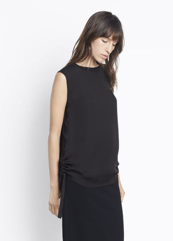 Vince Rouched Rib Tank