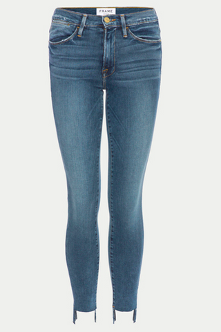 Frame Denim Le High Skinny Raw Stagger