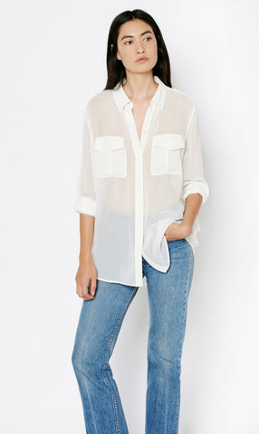 Equipment Major Blouse w/ Contrast