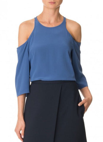 Tibi Heavy Slik CDC Cutout Top