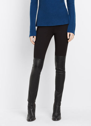 Vince Mixed Media Leather Legging