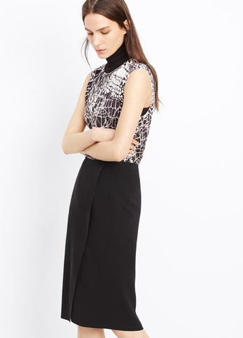 Vince Bonded Laser Cut Pencil Skirt
