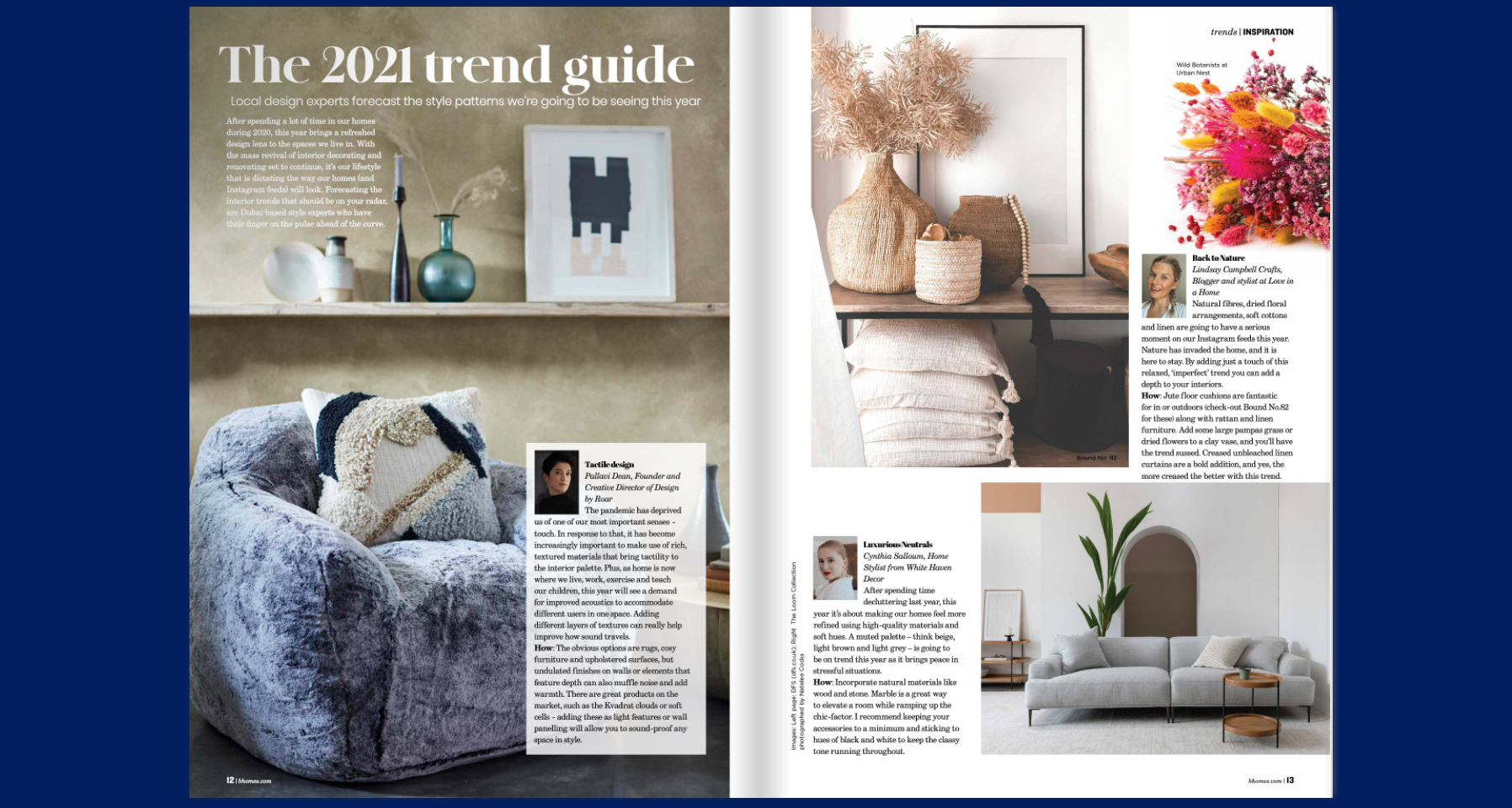 Better Homes Jan-Feb 2021 feature
