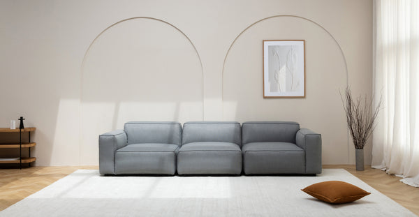 MILLER RIGHT SECTIONAL - TAN LEATHER