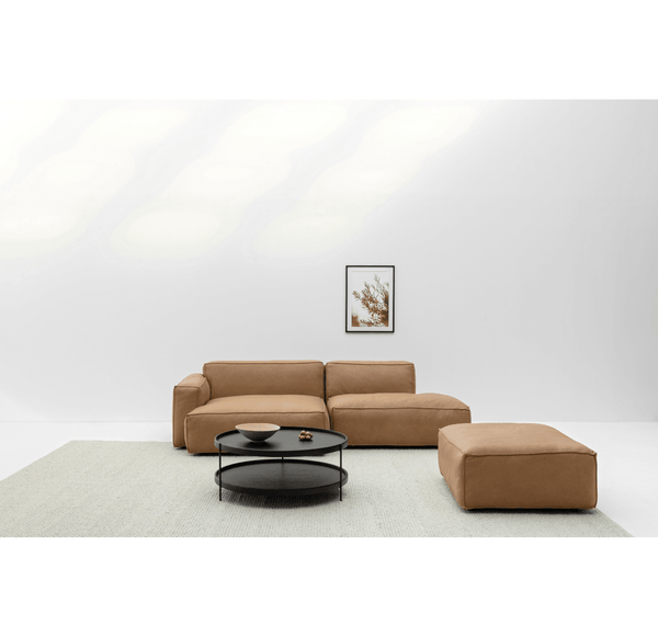 MILLER LEFT SECTIONAL - TAN LEATHER