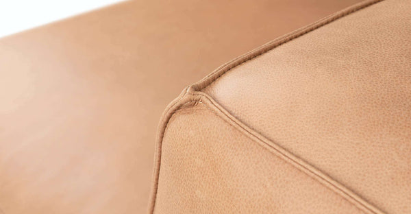 MILLER  MODULAR SOFA - TAN LEATHER