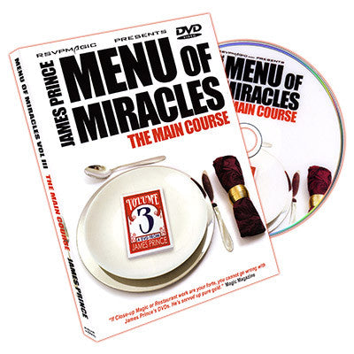 Menu of Miracles Vol 3 - by James Prince & RSVP - DVD
