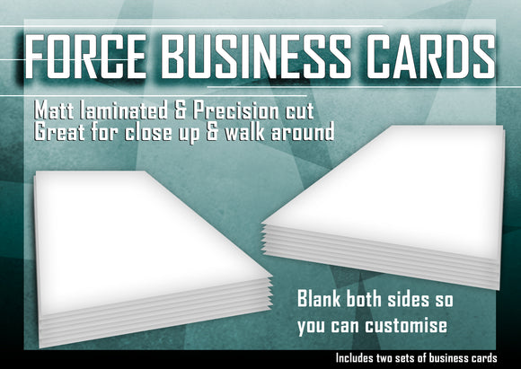 Force Business Cards By Warped Magic