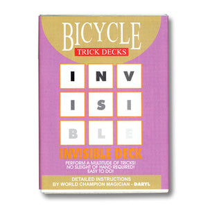 Invisible Deck Bicycle Red or Blue Back